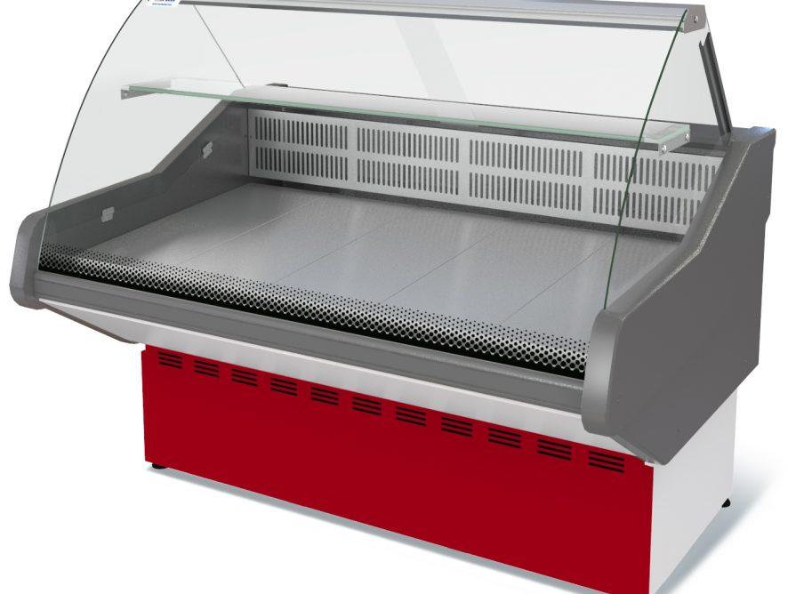 Витрина холодильная Илеть NEW ВХС-1,2 (0...+7) стат., без фронт. пан.,