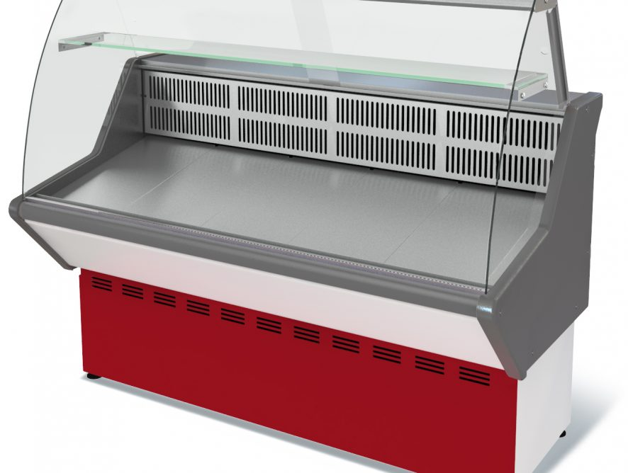 Витрина холодильная Нова ВХС-1,2 (0...+7) стат., без фронт. пан., гнут. стекло, нерж.