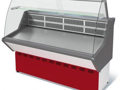 Витрина холодильная Нова ВХС-1,5 (0...+7) стат., без фронт. пан., гнут. стекло, нерж