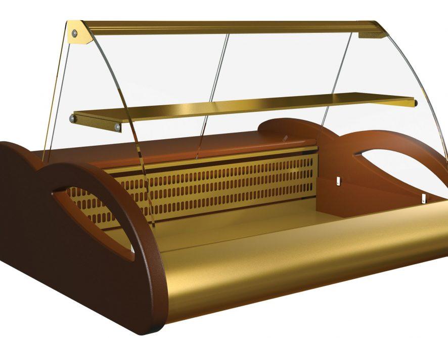 Витрина холодильная настольная (гнутое стекло) Полюс ВХС-1,0 Арго Люкс (0...+7)