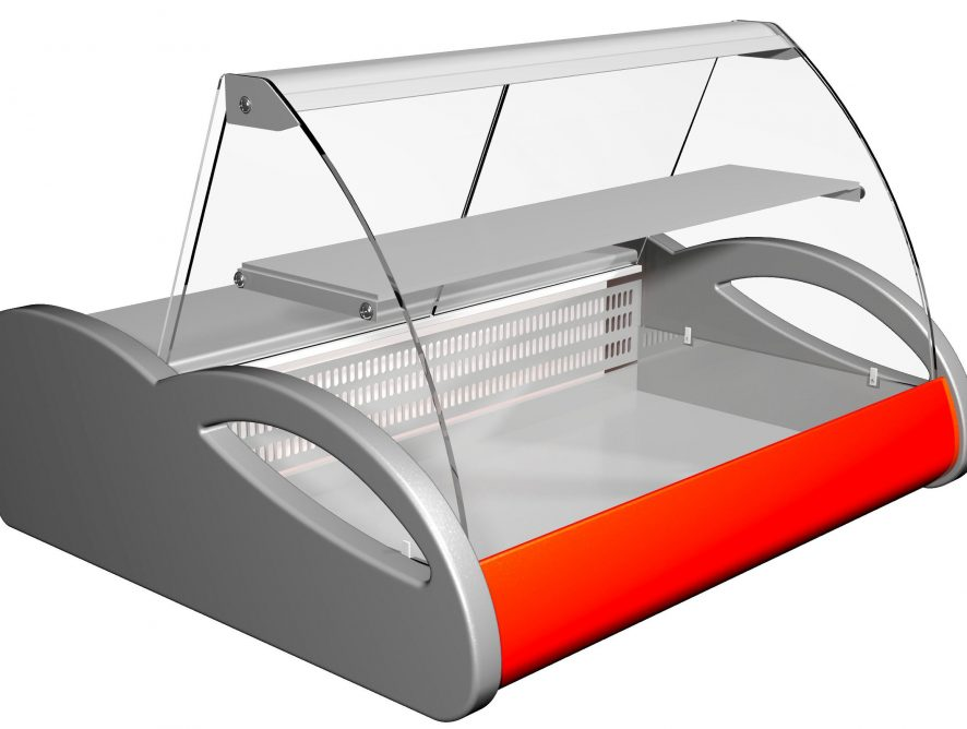 Витрина холодильная настольная (гнутое стекло) Полюс ВХСн-1,5 Арго (-6...0)