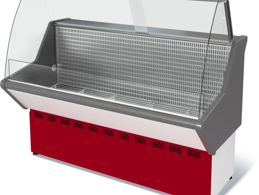 Витрина морозильная Нова ВХН-1,5  (-13*) стат., без фронт. пан., гнут. стекло, нерж