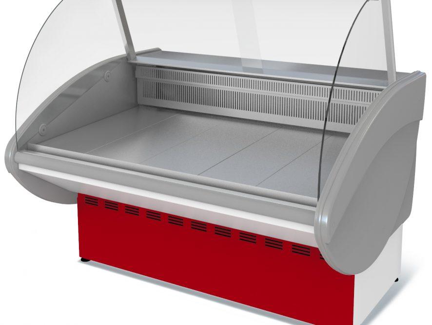 Витрина холодильная Илеть ВХС-1,2 (0...+7) стат., без фронт. пан.,