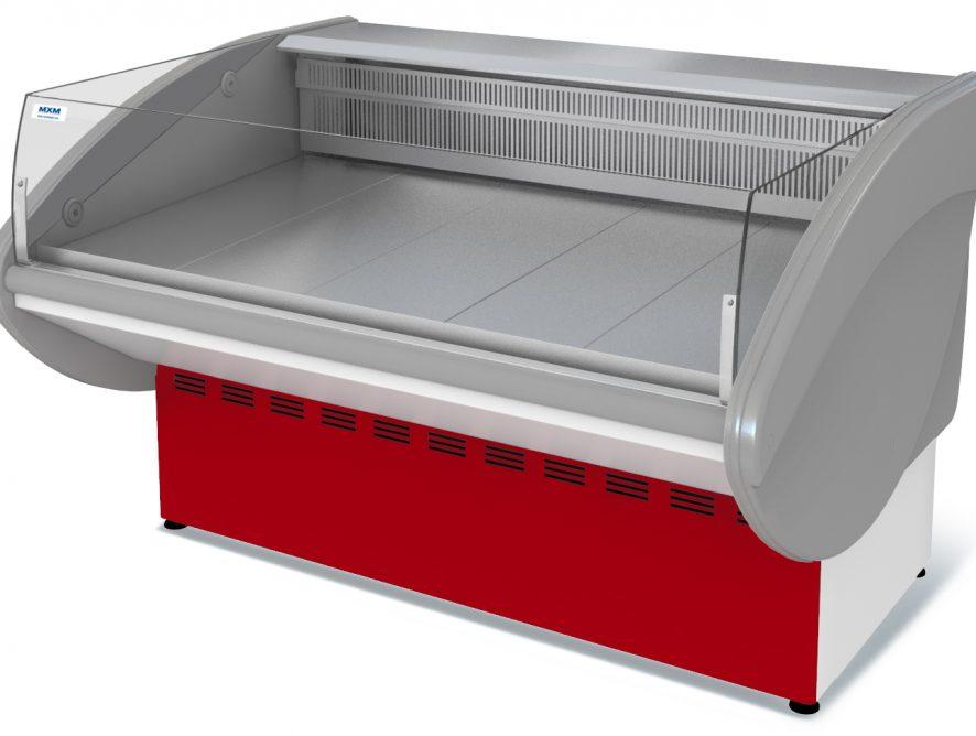 Витрина холодильная Илеть ВХСо-1,5 (0...+7) динам., без фронт. пан.,