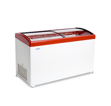 Ларь среднетемпературный Снеж МЛГ-500 (колеса, 5 корзины) красный среднетемпературный с гнутым стеклом 472 л