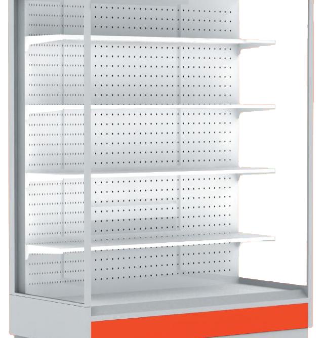 Горка холодильная гастрономическая ALT_N S 1350 Горка с боковинами, красный RAL 3002