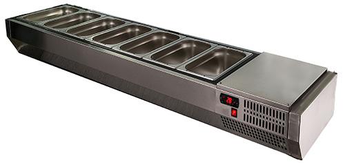 Холодильная витрина Carboma VT3-G с крышкой