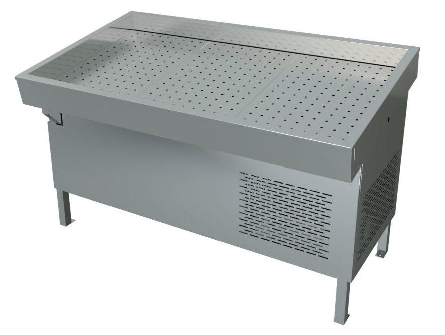 Прилавок холодильный среднетемпературный «Рыба-на-льду» ПХС-1,55/1,1 (встроенное холодоснабжение)