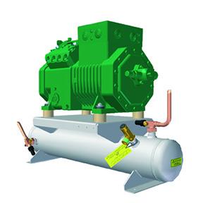 RIVACOLD GHBM011Z02: выносной Компрессорно-ресиверный агрегат среднетемпературный (-5…+5°c).